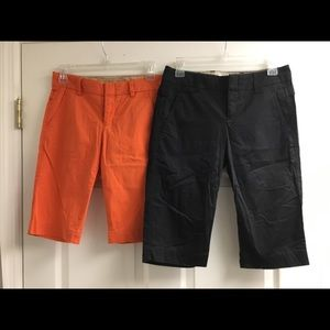 Lot 2 VINCE black orange Bermuda shorts size 0/2